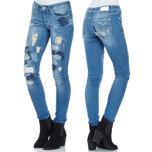 Red Bridge Damen Jeans Hose Destroyed Patches Slim-Fit Pants