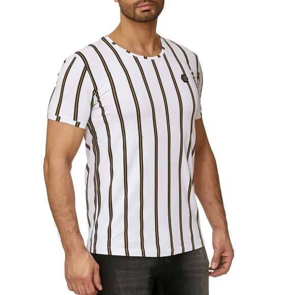 Red Bridge Herren T-Shirt Filled Stripes Regular-Fit Logo...