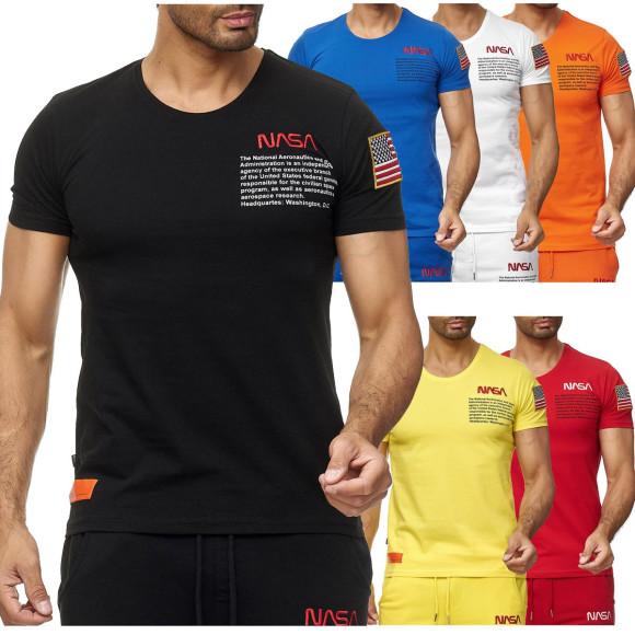 Red Bridge Herren T-Shirt NASA Logo USA Spaceshuttle