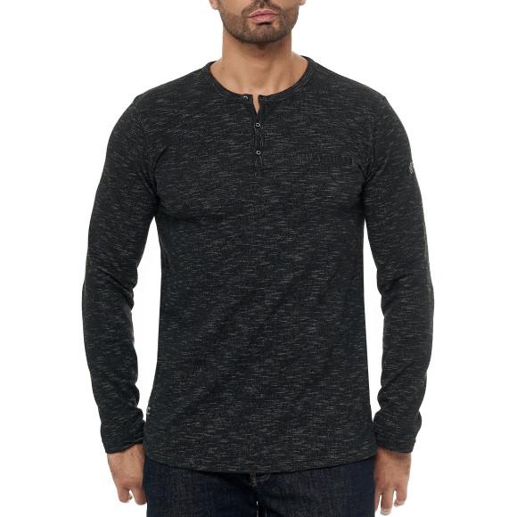 Red Bridge Herren Longsleeve Sweatshirt Chest-Pocket Melange