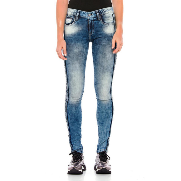 Cipo & Baxx Damen Jeans WD 390 Slim-fit-Jeans mit...