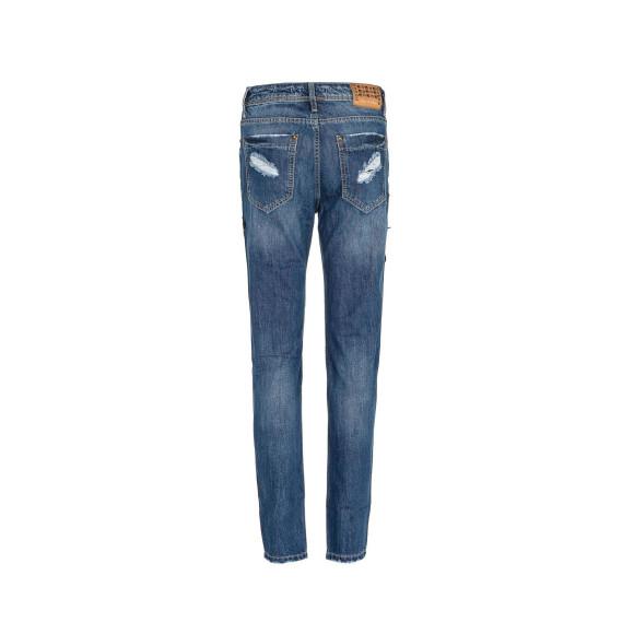 Cipo & Baxx WD298 Damenjeans, Damenhose blau