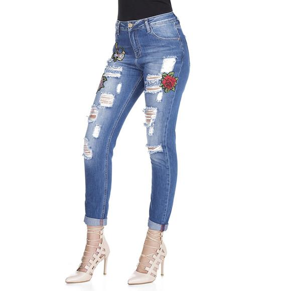 Cipo & Baxx WD303 Damenjeans, Damenhose blau