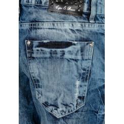 Cipo & Baxx WD305  Damenjeans, Damenhose blau