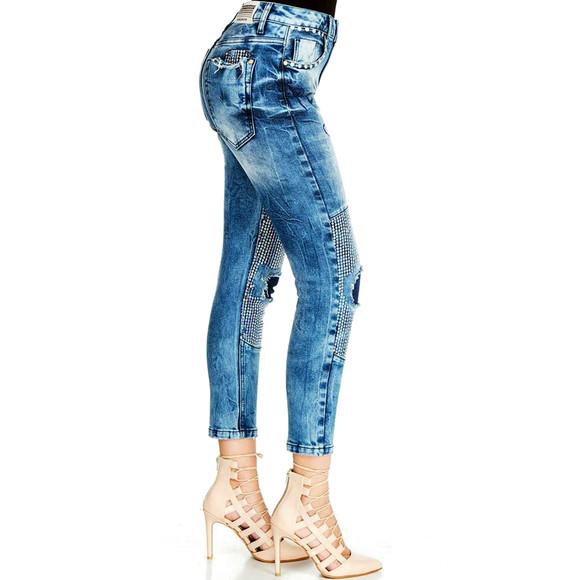 Cipo & Baxx WD314  Damenjeans, Damenhose blau