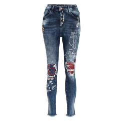 Cipo & Baxx WD319 Damenjeans, Damenhose blau