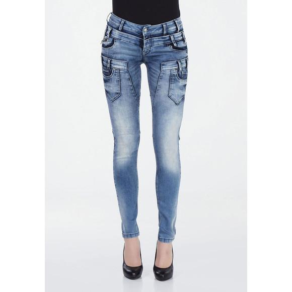 Cipo & Baxx WD260 Damenjeans, Damenhose blau