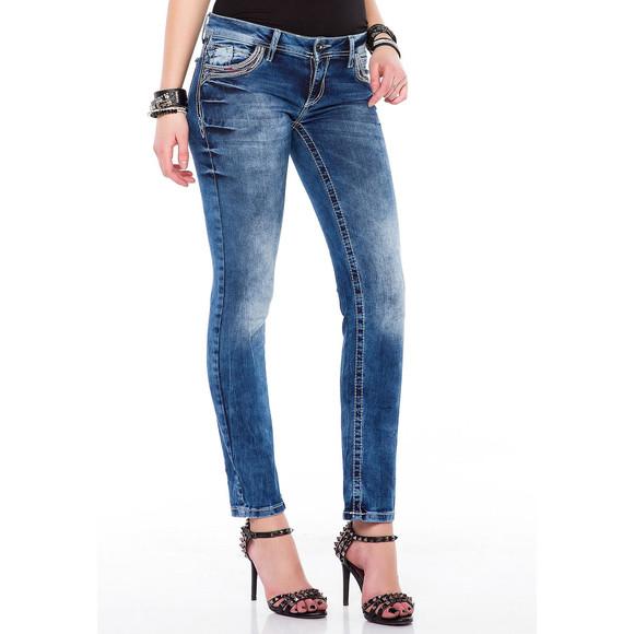 Cipo & Baxx WD352 Damenjeans, Damenhose blau