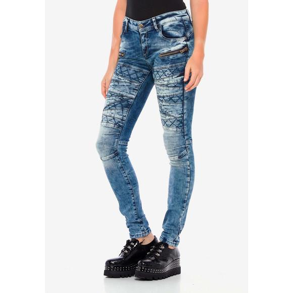 Cipo & Baxx WD381 Damenjeans, Damenhose blau