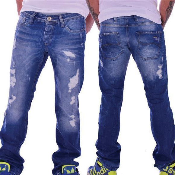 Redbridge by Cipo & Baxx Herren Destroyed Jeans Hose Used Look Jeanshose RB175 W32 L34