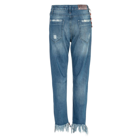 Cipo & Baxx WD304 Damenjeans Frauenjeans blau