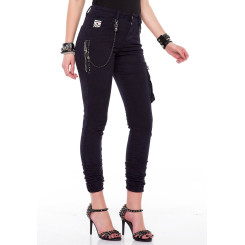Cipo & Baxx WD354 Damenjeans Frauenjeans schwarz