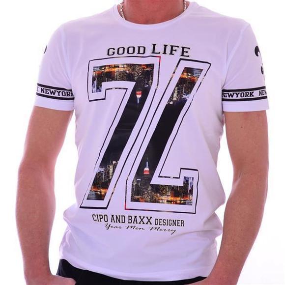 Cipo & Baxx Herren Oberteil Hemd Polo T-Shirt CT214