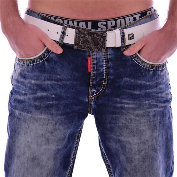 Cipo & Baxx CD 148 Herren Männer blue Jeans Jeanshose Denim Men blau dicke Nähte W31L32