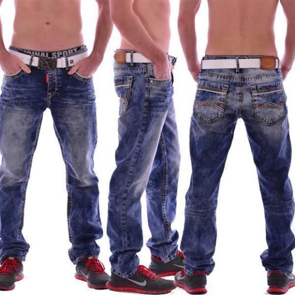 Cipo & Baxx CD 148 Herren Männer blue Jeans Jeanshose Denim Men blau dicke Nähte W33L34