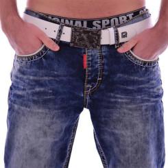 Cipo & Baxx CD 148 Herren Männer blue Jeans Jeanshose Denim Men blau dicke Nähte W36L34
