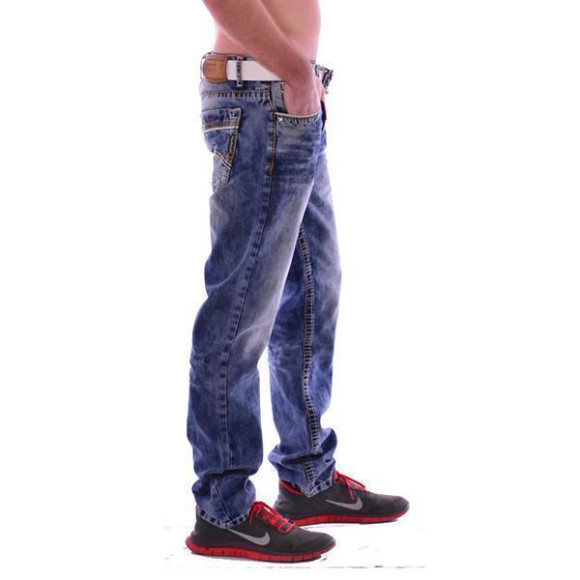 Cipo & Baxx CD 148 Herren Männer blue Jeans Jeanshose Denim Men blau dicke Nähte W38L34