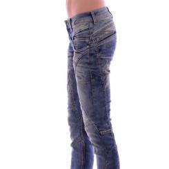 Cipo & Baxx WD 175 Damen Frauen Jeans Jeanshose Boyfriend Used Look blue blau W28 L34
