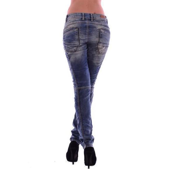 Cipo & Baxx WD 175 Damen Frauen Jeans Jeanshose Boyfriend Used Look blue blau W31 L32