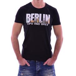 Cipo & Baxx Herren BERLIN T-Shirt CT166 BLACK SCHWARZ S