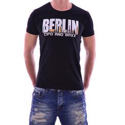 Cipo & Baxx Herren BERLIN T-Shirt CT166 BLACK SCHWARZ M