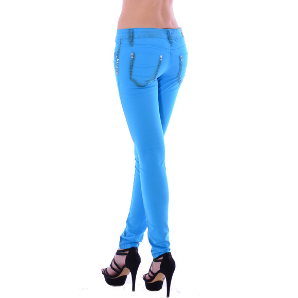 Redbridge Damen Chino Hose RED/BLUE RBW 3009 A Blue W29 L32