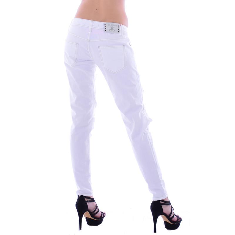 cipo baxx damen destroyed white wei jeans hose wd227. Black Bedroom Furniture Sets. Home Design Ideas