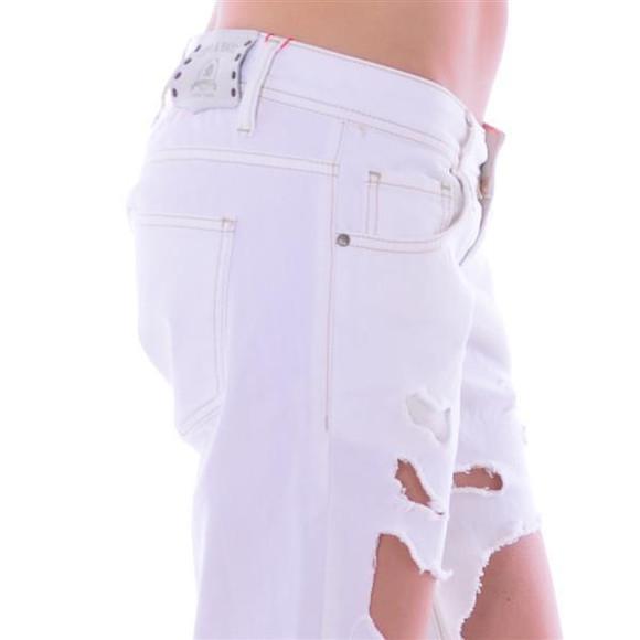 Cipo & Baxx Damen Destroyed WHITE weiß Jeans Hose WD227 W26 L32