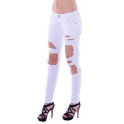 Cipo & Baxx Damen Destroyed WHITE weiß Jeans Hose WD227 W28 L34