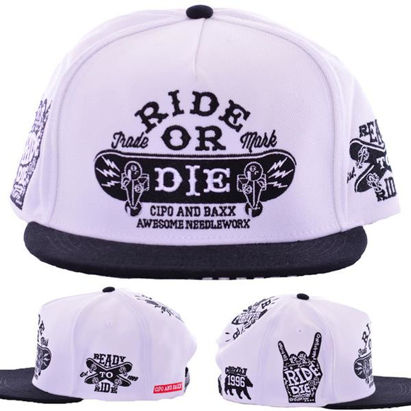 Cipo & Baxx Cap RIDE OR DIE Hip Hop Style Mütze Hat Hut...