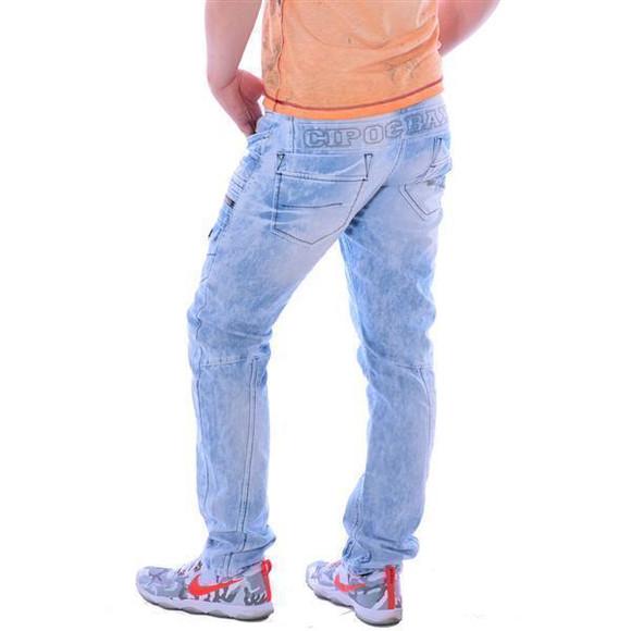 Cipo & Baxx CD 272 Herren Männer Denim Jeans Hose Jeanshose hellblau blau blue W29L32
