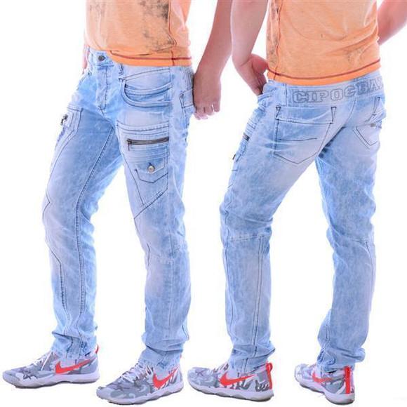 Cipo & Baxx CD 272 Herren Männer Denim Jeans Hose Jeanshose hellblau blau blue W32L32