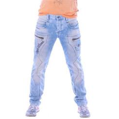Cipo & Baxx CD 272 Herren Männer Denim Jeans Hose Jeanshose hellblau blau blue W36L34