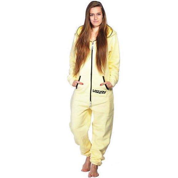 Lazzzy ® Vanilla Yellow Jumpsuit Onesie Overall
