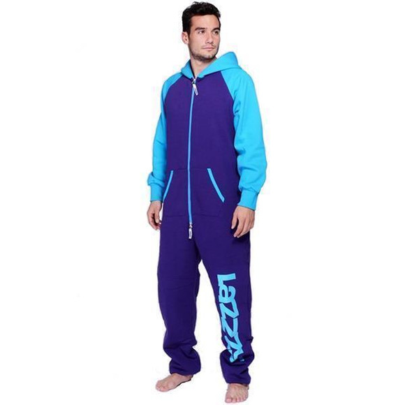 Lazzzy ® DUO Purple / Torquoise Jumpsuit Onesie Overall