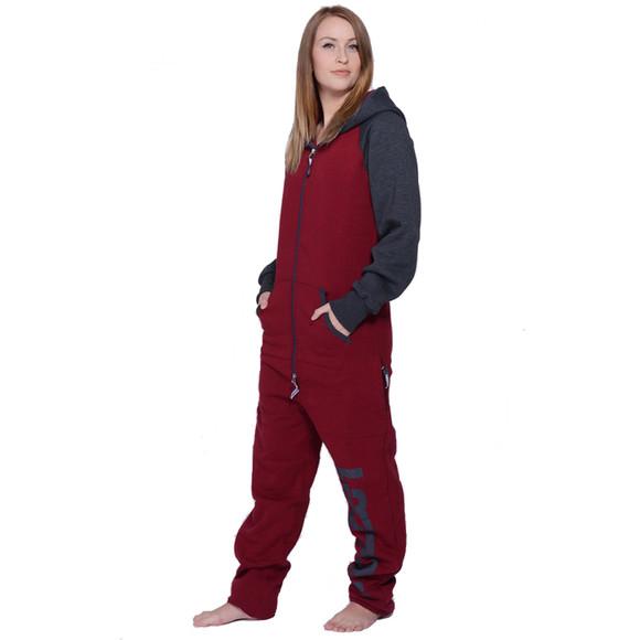 Lazzzy ® DUO Claret red / Graphite Jumpsuit Onesie...