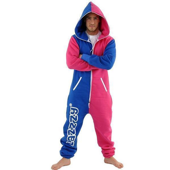 Lazzzy ® Blue / Pink Jumpsuit Onesie Overall