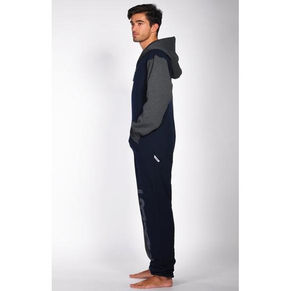 Lazzzy ® Graphite / Dark Blue Jumpsuit Onesie Overall