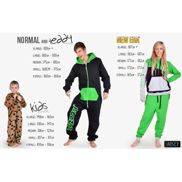 Lazzzy ® DUO Graphite / Green Jumpsuit Onesie Overall