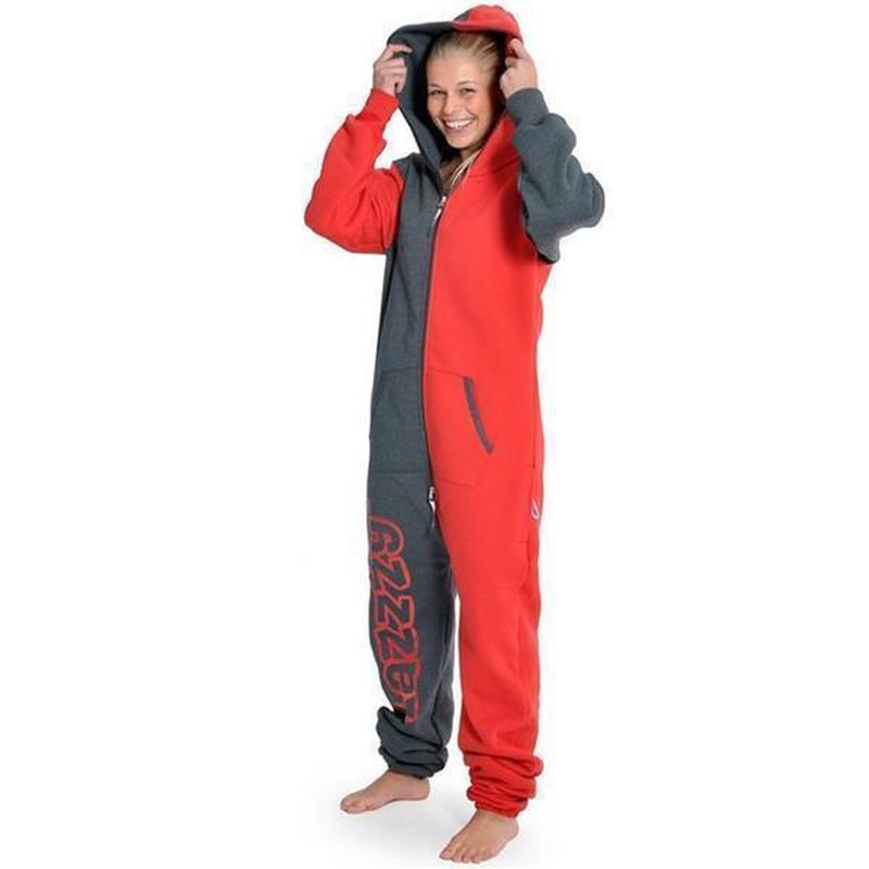 c1817328c2 Lazzzy ® Graphite / Red Jumpsuit Onesie Overall - Angesagte ...