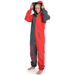 Lazzzy ® Graphite / Red Jumpsuit Onesie Overall