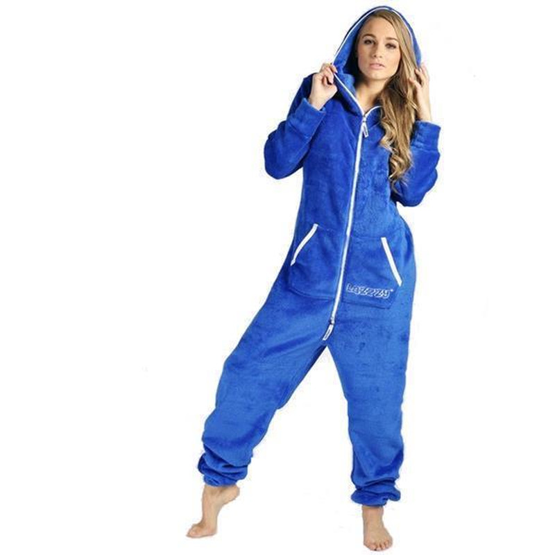 Lazzzy ® Royal Blue Teddy Jumpsuit Onesie Overall