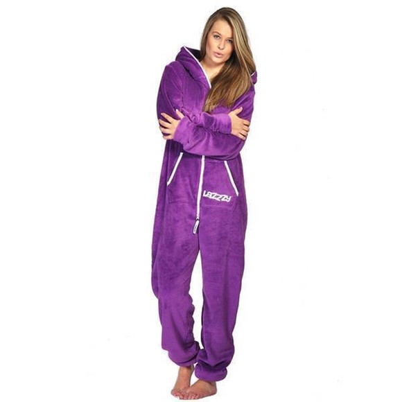 Lazzzy ® Purple Teddy Jumpsuit Onesie Overall