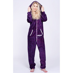 Lazzzy ® Crazy Leopard Teddy Jumpsuit Onesie Overall