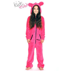 Lazzzy ® Pink Teddy Kids Jumpsuit Onesie Overall