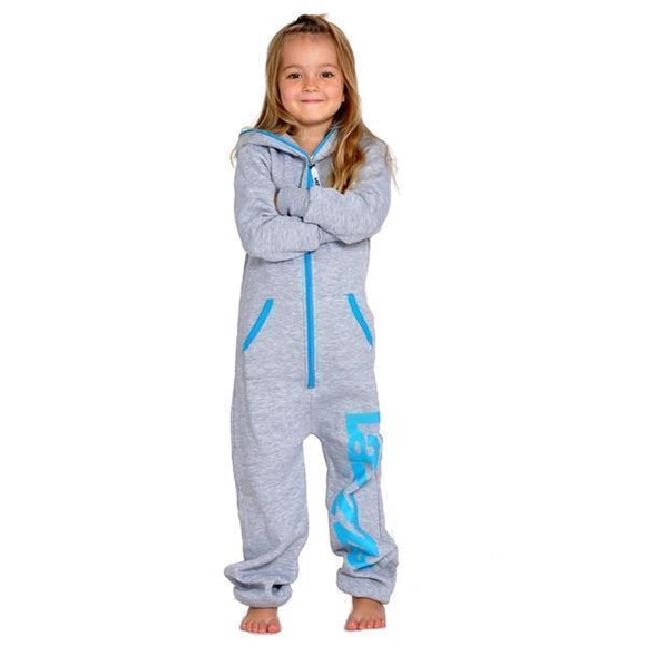 Lazzzy ® Metal Grey Kids Jumpsuit Onesie Overall