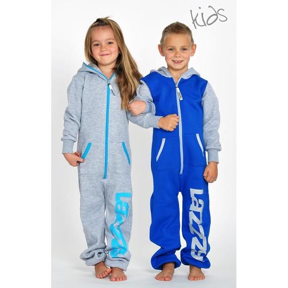 Lazzzy ® Metal Grey Kids Jumpsuit Onesie Overall