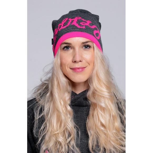 Lazzzy ® BUDDY Beanie Graphite grey grau Pink Mütze