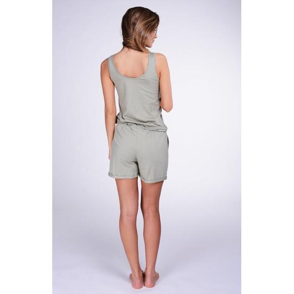 Lazzzy ® Army Green grün SUMMY Short Jumpsuit Onesie Overall