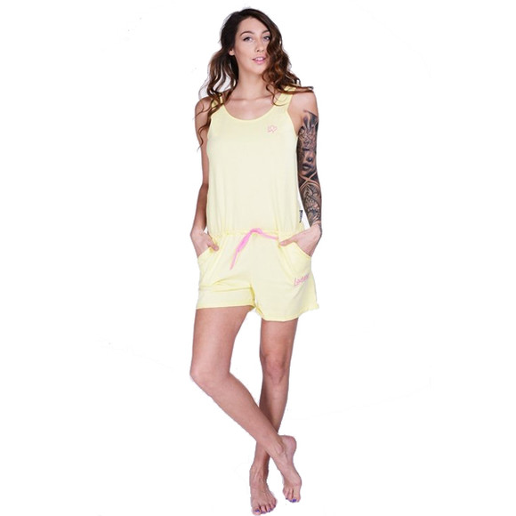 Lazzzy ® Light Yellow gelb SUMMY Short Jumpsuit Onesie...